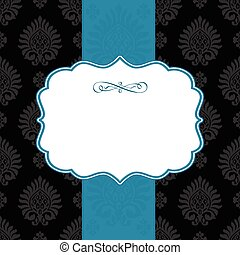 Vector Ornate Striped Frame and Background