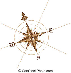 Wind rose compass - Vector wind rose compass Great for any...