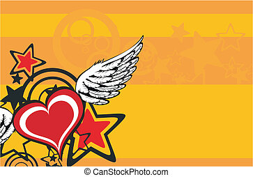 winged heart background2