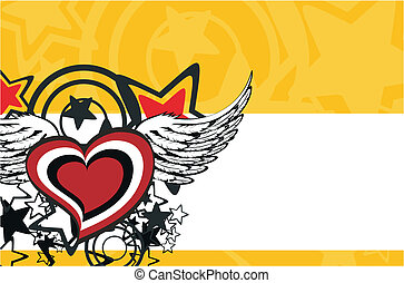 winged heart background3