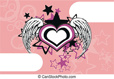 winged heart background6