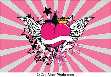 winged heart background8