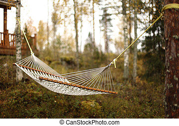 hammock in forest close up