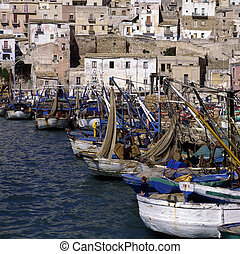 Harbor in Sciacca in Sicily