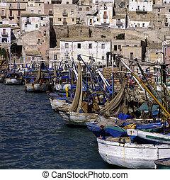 Harbor in Sciacca in Sicily