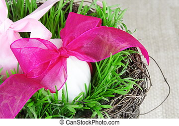Festive Basket with Easter Eggs