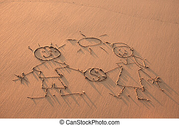 Equality - Drawn in the sand on the atlantic coast