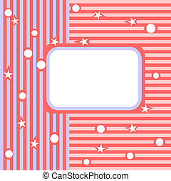 Light background Pink both blue strips and a place for the...