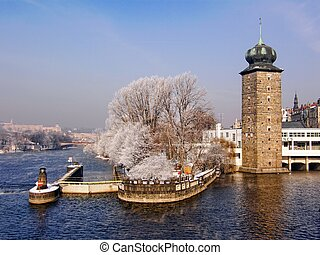 Winter in Prague - Sitkov water tower