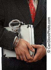man with a briefcase - businessman with a briefcase and...
