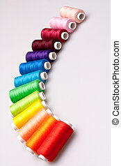 colored thread for sewing - multi-colored rainbow threads...