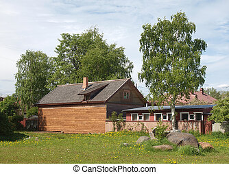The house in village