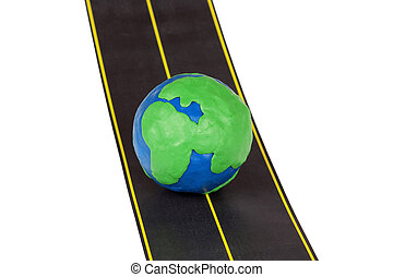 Globe on Highway