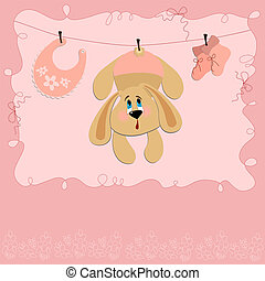 Baby greetings card with rabbit