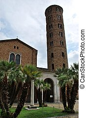 St. Apollinare Nuovo church and round tower, Ravenna, Italy