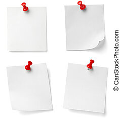 push pin and note paper office business - collection of...