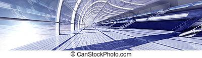 Air Station - 3D rendered Illustration