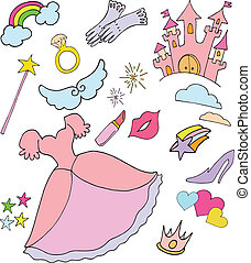 princess world - colorful doodles of princess things