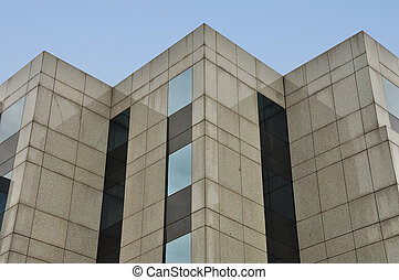 modern building facade corners - Modern building marble and...