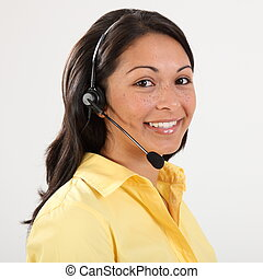Receptionist on the telephone