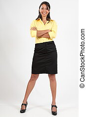 Confident young business woman - Young attractive business...