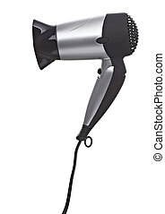 hair dryer - close up of a hair dryer on white background...