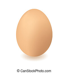 chickend egg - Brown chickens or hens egg with isolated...
