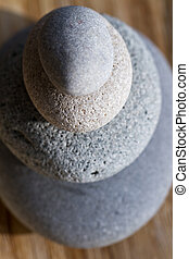 Stone tower - Pebble tower in grey