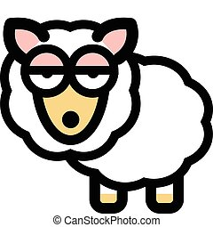 Sheep in funny cartoon style