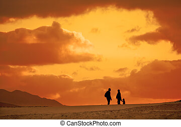 Family trip in the desert