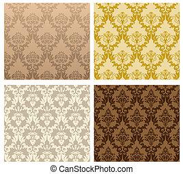 seamless damask pattern - Damask seamless vector pattern...