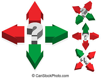 Question Mark and Arrows