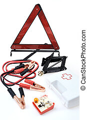 Emergency kit for car - first aid kit, car jack, jumper...