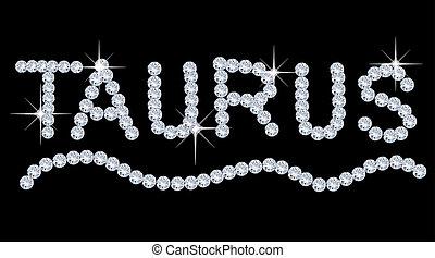 Diamond Zodiac Taurus