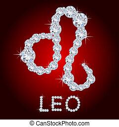 Diamond Zodiac Leo