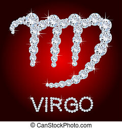 Diamond Zodiac Virgo