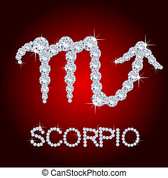 Diamond Zodiac Scorpio