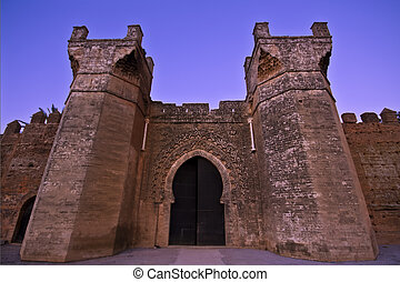 Medieval Fortress - Main entras in an Imposant Arab Medieval...