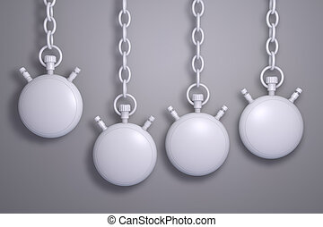 Pocket watch - 3d rendered pocket watch with chain