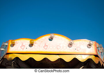 Carrousel - Colorful vintage carousel for children and ablue...