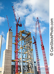 Power plant construction - Cranes and steel construction of...
