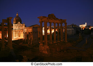 Ancient Rome - Ruins of the ancient roman empyre shot at...
