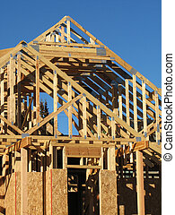new house construction - new house under construction...