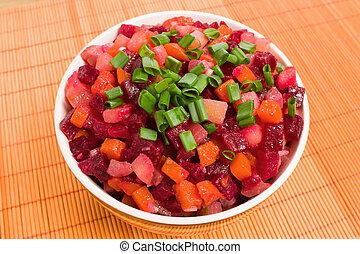 Vinaigrette Russian beetrot salad