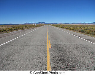 open road - empty highway 60 cuts straight across the Plains...