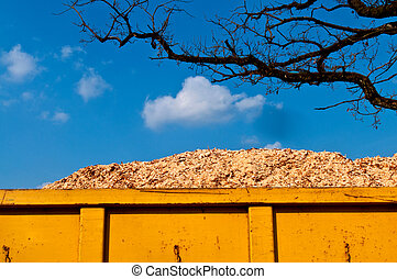 Biomass in container