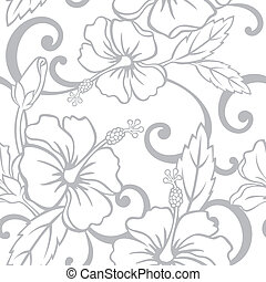Seamless Hawaiian Wedding Pattern - Vector Illustration of a...