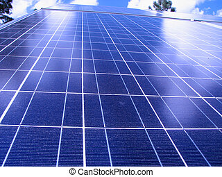 solar panel detail - close up of photovoltaic solar panel...