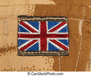 British Army Badge on Desert Camouflage - Brisitsh Army...