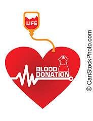 Blood Donation Concept Illustration in Vector